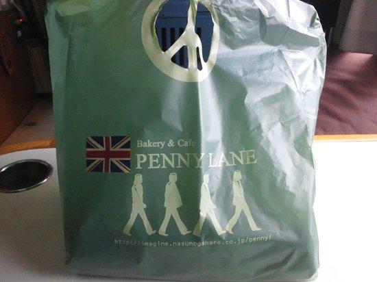 Bakery Cafe Penny Lane Nasuhonten: パンを入れてくれる袋