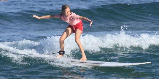 Island Style Surf School: 10 yr old surfing