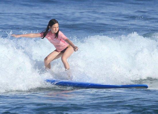 Island Style Surf School: 12 yr old surfing