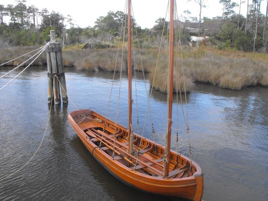 The Lost Colony: The skiff pulled behind the boat