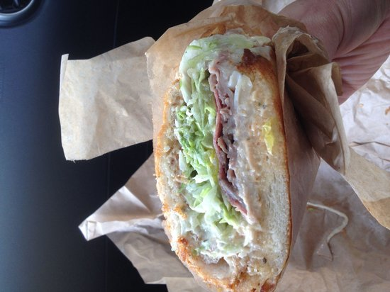 Ike's Place: Matt Cain with hardly any meat in it. Very disappointed. Mostly lettuce and bread. Where's the m