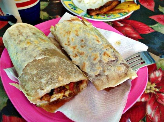 Belita's Deli : Lobster Burrito with handmade tortilla