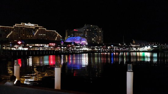 Novotel Rockford Darling Harbour : View from Darling Harbour (5 min from hotel)