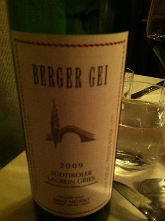 Felidia : loved this wine recommendation by our server