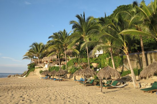 Playa Escondida : the view looking back from the beach. yes its this private and quiet