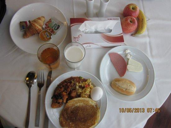 Almuthana Hotel : Midle East style Breakfast