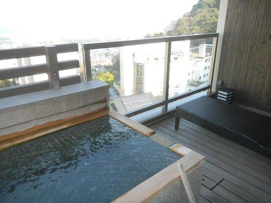 Ryotei Matsubaya: 部屋の露天風呂