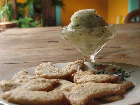 LA68 Casa de Cultura Elena Poniatowska: Helado de Lima con hierbabuena hecho en casa / key lime & spearmint home made ice cream