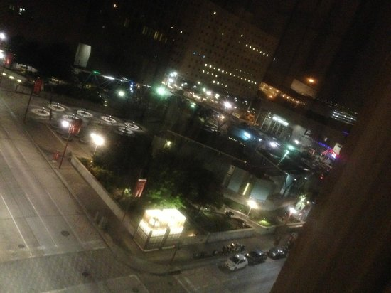 The Lancaster Hotel: Nighttime view from window!