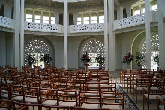 The Baha'i Temple: Inside the temple