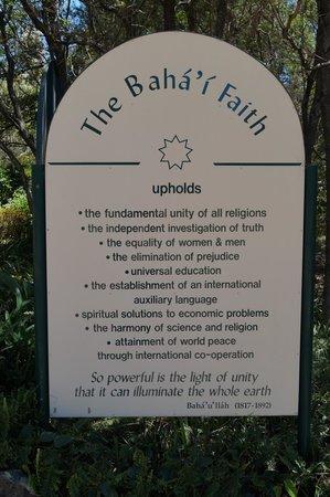 The Baha'i Temple: The Baha'i faith upholds....