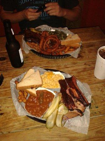 The Original Q Shack: Two Three Meat Platters