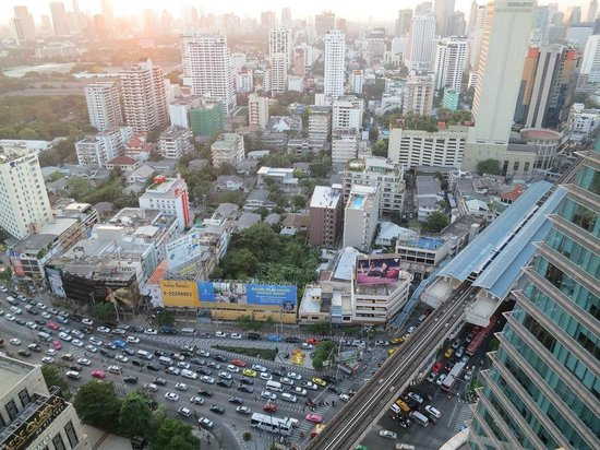 The Continent Hotel Bangkok by Compass Hospitality: view from the room to BTS Asoke