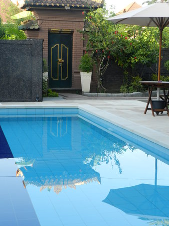 Bumi Ayu Rising Sun B&B : gorgeous reflection in the pool