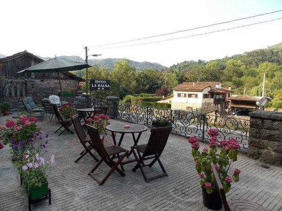 Hotel La Balsa: Terraza