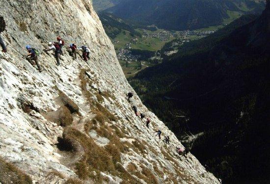 Rifugio Cavazza Franco Al Pisciadu: ferrata tridentina al pisciadù, la torre Exner