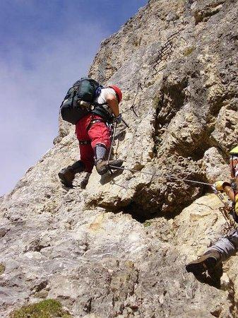 Rifugio Cavazza Franco Al Pisciadu: la ferrata tridentina al Pisciadù, passaggio impegnativo!