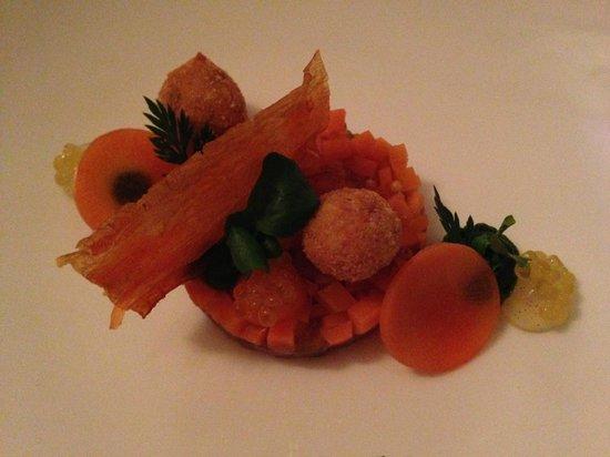 Restaurant Krone: tartare thon et carotte