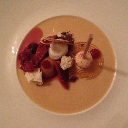 Restaurant Krone: dessert en déclinaison de caramel