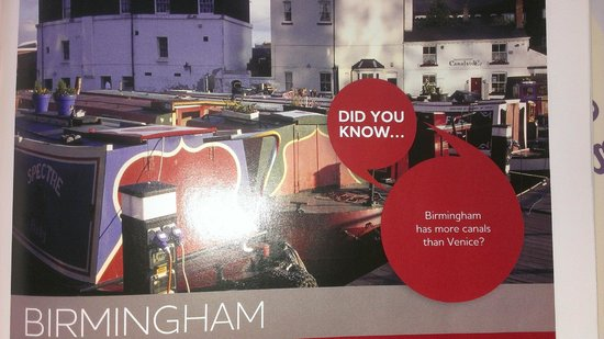 Jurys Inn Birmingham : Did you know that Birminham has many canals? (Photo from room magazine)