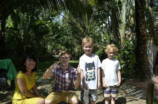 Cassia Cottage: My boys and the wonderful Staff