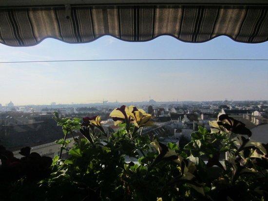 Tea Vienna City Hotel: Вид с террасы во время завтрака