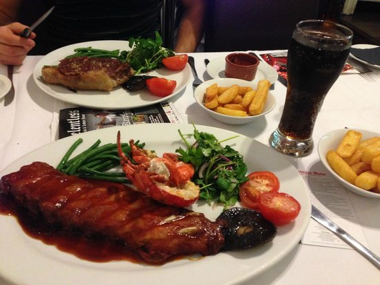 Relentless Steak & Lobster House: Ribs and Lobster Main & 22oz Sirloin Steak