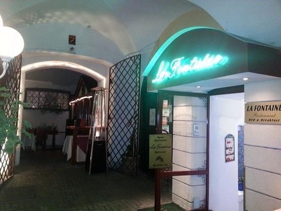 Restaurant La Fontaine - U Pierre'a : entrance to restaurant