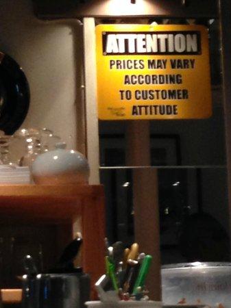Casalingo: Beware of your attitude =)