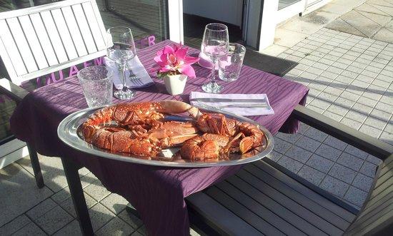 Mauve : Notre plat de Homard