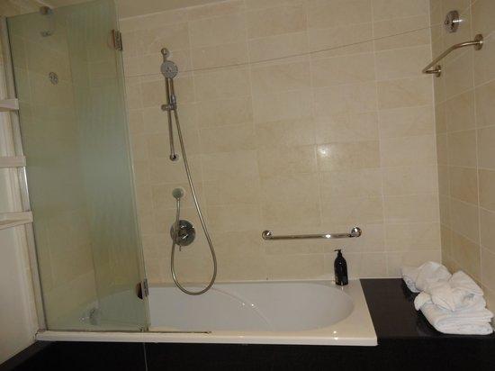 Adagio Paris Tour Eiffel : The only shower is in bath