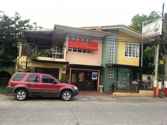 La Preciosa: The restaurant as seen from across the street