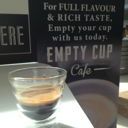 Empty Cup Cafe: You balanced espresso shot!