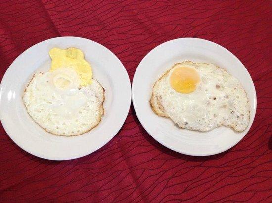 Swan Garden Hotel: Overcooked egg