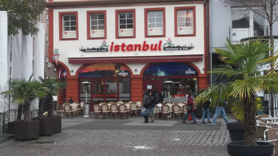 the view of the restaurant picture of istanbul mannheim tripadvisor. Black Bedroom Furniture Sets. Home Design Ideas