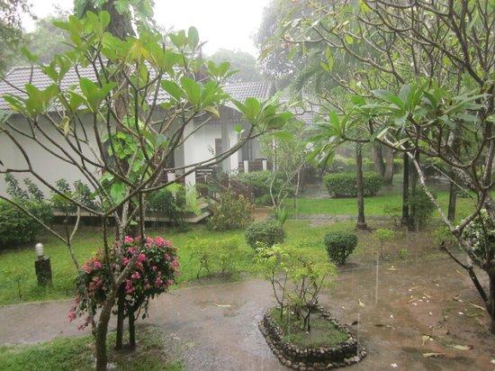 First Bungalow Beach Resort: Min bungalow låg bra till, regnade ofta tidigt på morgonen.