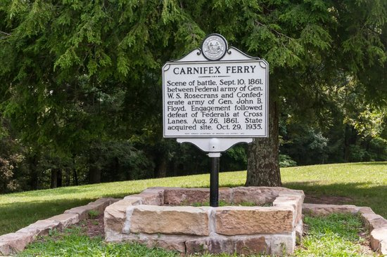 Carnifex Ferry Battlefield State Park: Historical Marker near Picnic Area