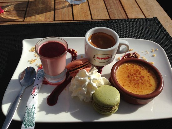 Reve Plage : café gourmand :-)