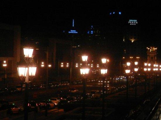 Gran Hotel Torre Catalunya: view from Av. Reina Maria Cristina (Montjuic)