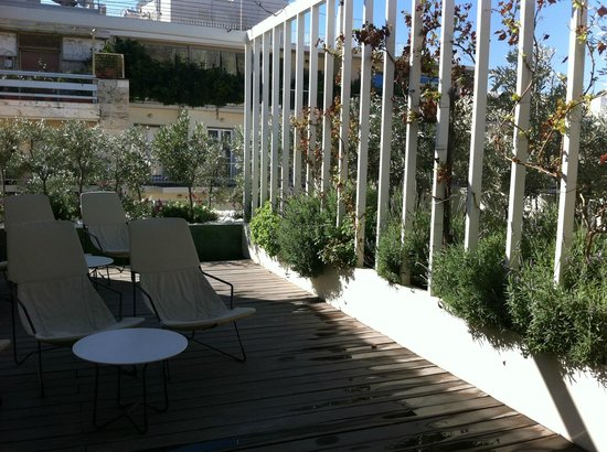Herodion Hotel: roof terrace