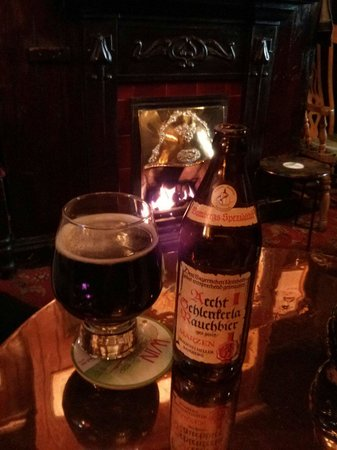 """The Blue Bell: Nice fire and smoked beer in the """"smoke room"""""""