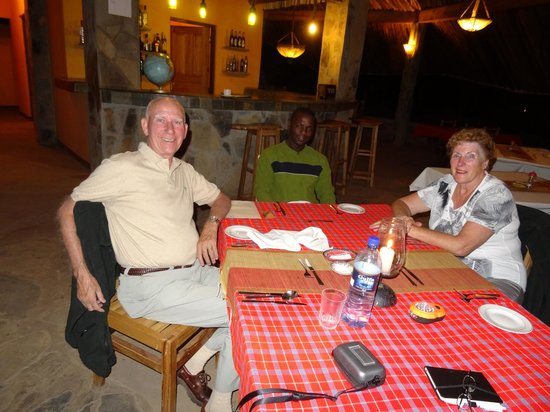 Crater Forest Tented Camp: dinner