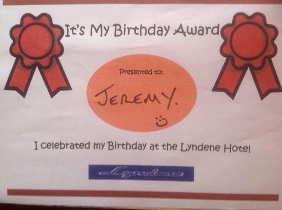 Lyndene Hotel: Happy Brilliant Day