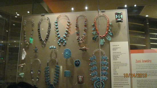 beauatiful jewelry on display - Picture of Heard Museum