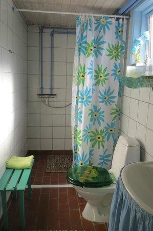 Tohojgaard Bed & Breakfast: Bathroom downstairs