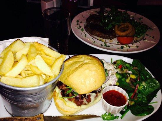 Maudlam, UK: Burger and steak