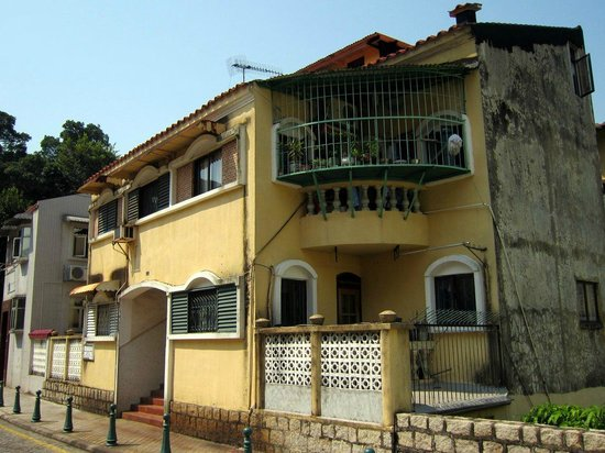Taipa Village Macau : Old colonial style houses