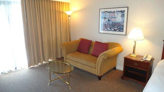 Hilton Bellevue Hotel: Диван