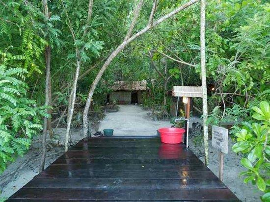 Kri Eco Resort: end of jetty