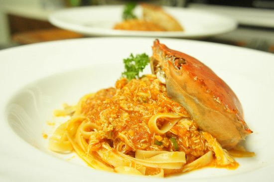 Ciao Koh Chang : pasta with crab